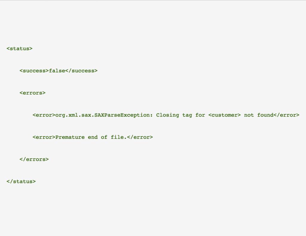 Sending malformed XML payloads