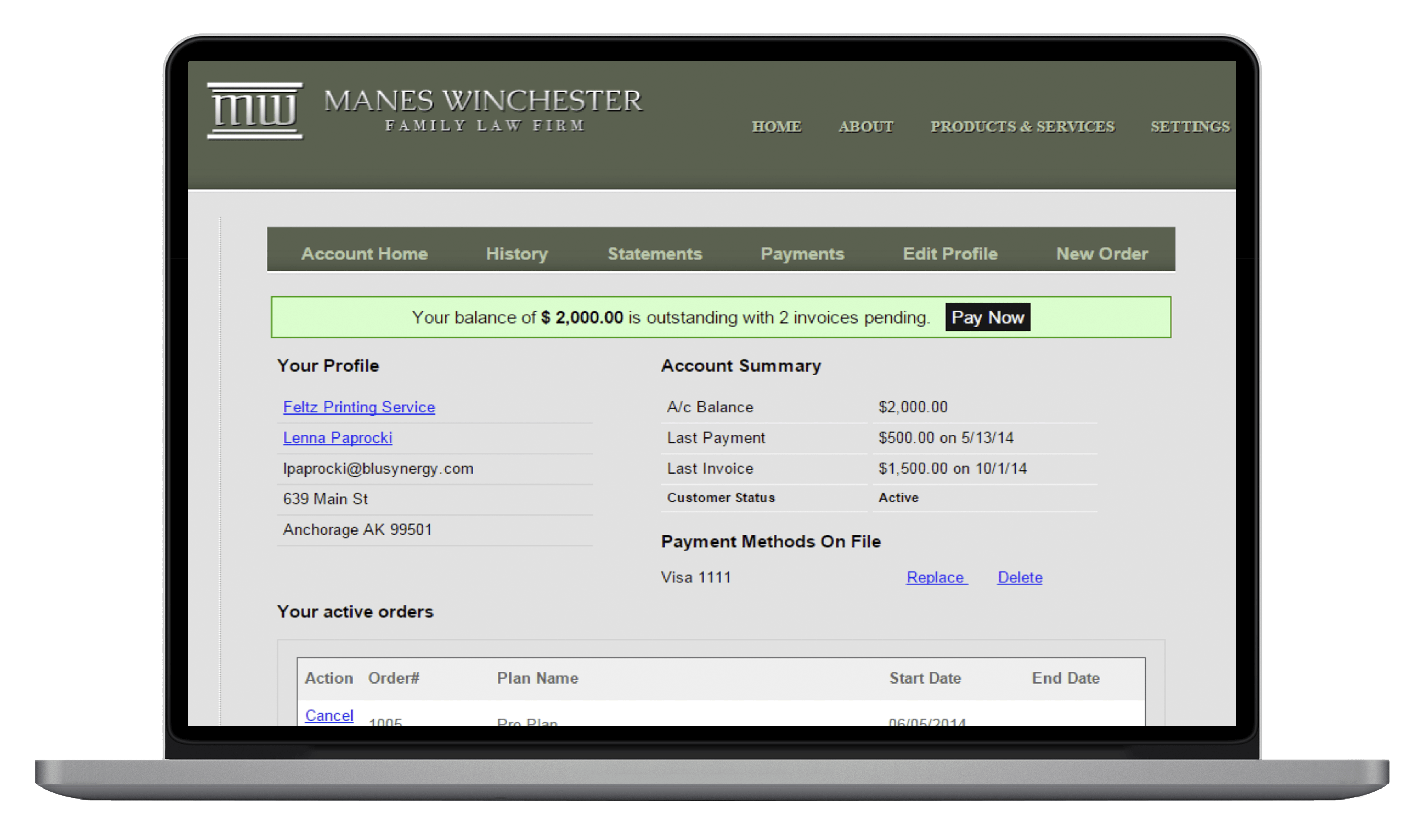 Subscription and Recurring Billing App - Quickbooks