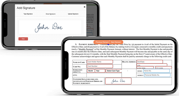 Online electronic signature app