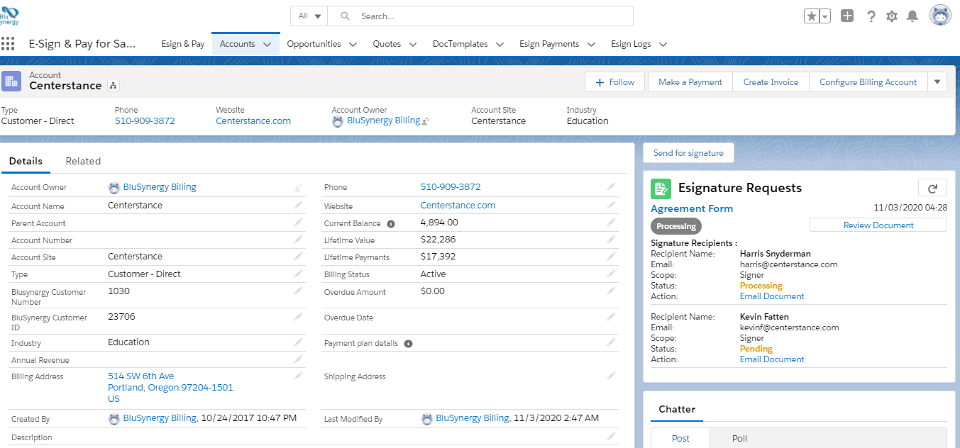 Electronic Signature Integration for Salesforce